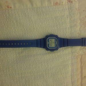 Casio blue sports watch EUC